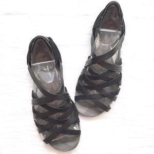 Ahnu Black Maia Gladiator Sandals Size 9 NIB